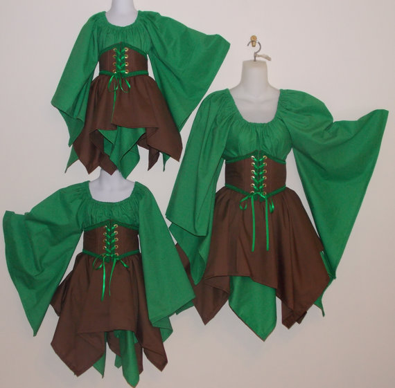 Wood Elf Fairy & Wood Elf Fairy - childrens renaissance medieval pirate clothes