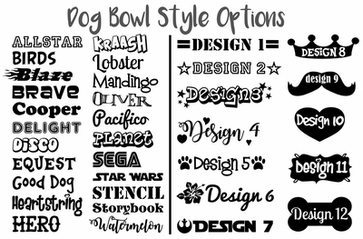 Personalized Dog Bowls - Colored Stainless Steel