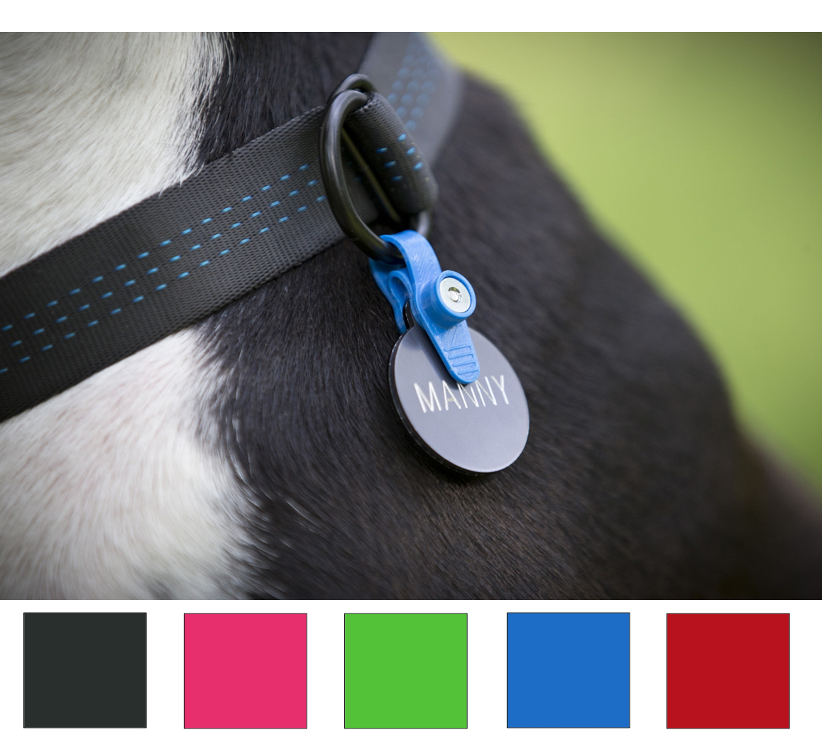 Dog Collar ID Tag Holder & Silencer | Makes Dog ID Tags ...