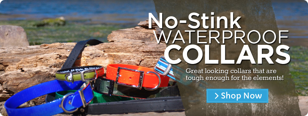 No-Stink Waterproof Dog Collars