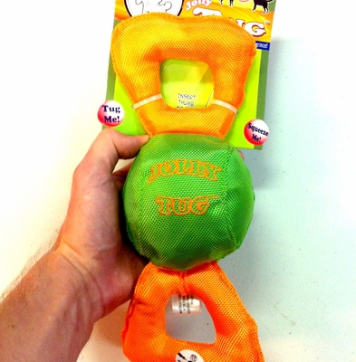 Jolly Pets Durable Squeaking Tug Toy