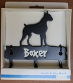Metal Dog Leash Holder - Boxer