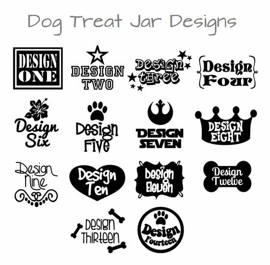 personalized dog treat jars