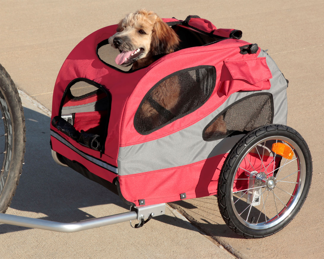 solvit houndabout ii dog bike trailer dog bicycle trailers. Black Bedroom Furniture Sets. Home Design Ideas