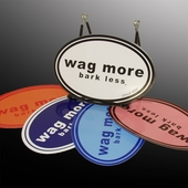 Wag More Bark Less Bumper Sticker