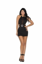 Elegant Moments 88044 Lycra Halter Mini Dress