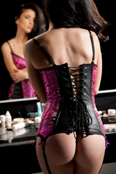 Allure 11-522 Leather and Brocade Elle Corset