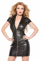 Allure 17-2005 Faux Leather Dress