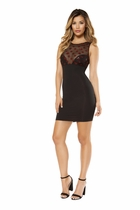 Clubwear Dress Glitter Sheer Mesh Top