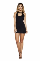 Clubwear Mini Dress with Circular Cutout Detail
