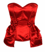 Daisy LV-179 Red Satin Corset w/Removable Snap on Skirt