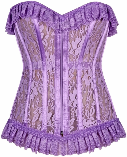 Daisy LV-302 Lilac Sheer Lace Corset