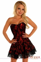 Daisy LV-339 Black/Red Lace Corset Dress