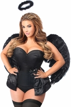 Daisy LV-446 4 PC Angel of Darkness Corset Costume