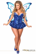 Daisy TD-928 Top Drawer Premium Sequin Blue Fairy Corset Dress Costume