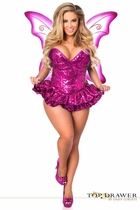 Daisy TD-930 Top Drawer Premium Sequin Pink Fairy Corset Dress Costume