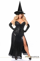 Daisy TD-931 Top Drawer Premium Sequin Witch Corset Costume