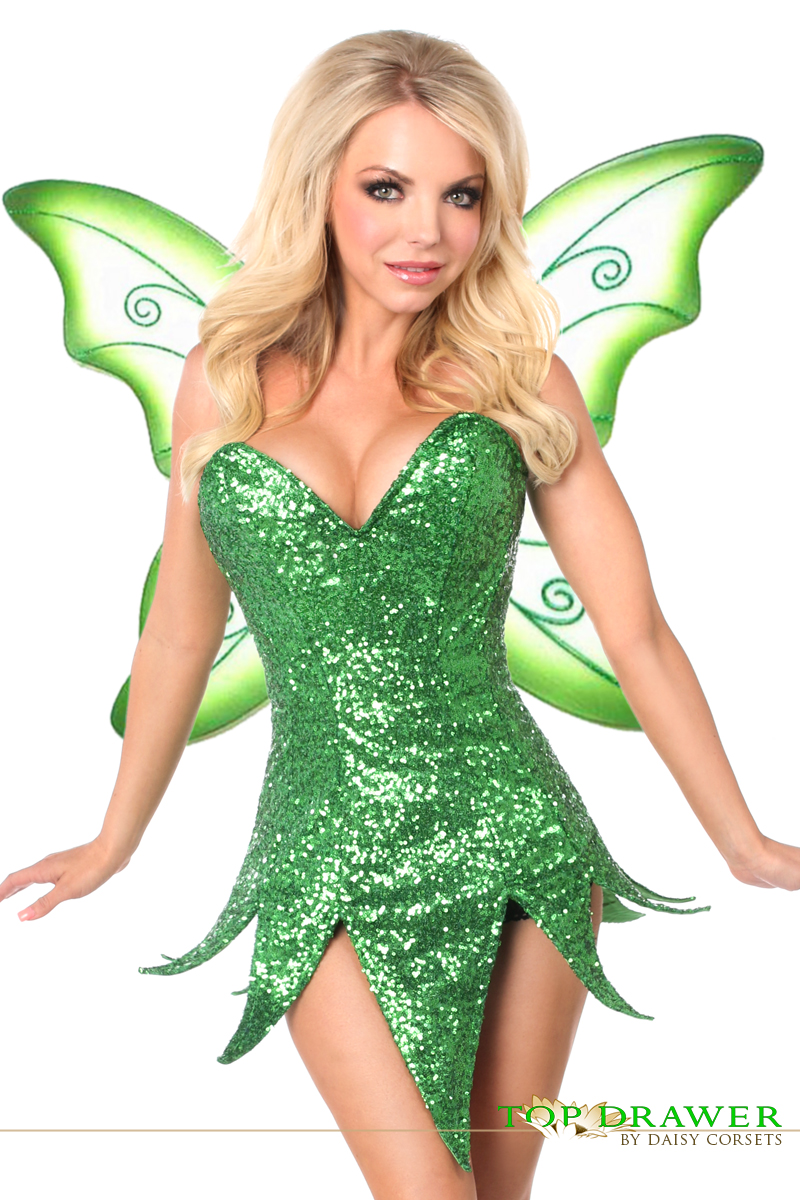 Daisy TD-934 Top Drawer Green Sequin Fairy Corset Dress Costume  sc 1 st  Sincity Playwear & Shop for Daisy TD-934 Top Drawer Green Sequin Fairy Corset Dress Costume