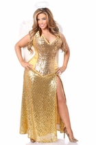 Daisy TD-969 4 PC Gold Sequin Angel Costume