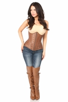 Daisy Top Drawer Faux Leather Underbust Corset