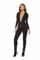 Dancewear Strappy Lace-up Jumpsuit