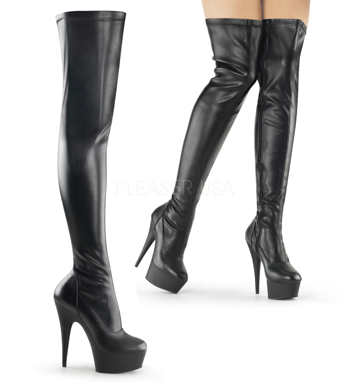 4de1c526f4a0 Pleaser Delight-3000 Exotic Dancer Thigh High Boot
