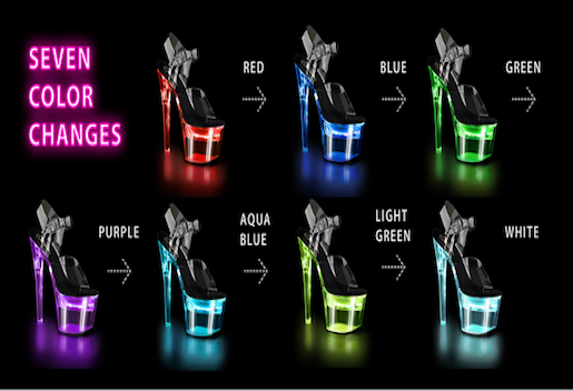 Rechargeable LED Exotic Dancer Shoes
