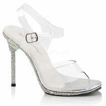 Pleaser Chic-08DM Ankle Strap Sandal