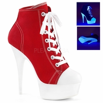 Pleaser Delight-600SK-02 Canvas Sneaker