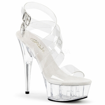 Pleaser Delight-635 Double Criss Cross Closed Back Sandal