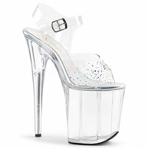 Pleaser Flamingo-808SD Ankle Strap Stiletto Sandal
