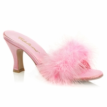 Pleaser Flapper-01F Marabou Slipper