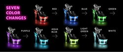 Pleaser Flashdance-709 Rechargeable Ankle Strap Sandal With 7 Flashing Colors