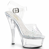 Pleaser Kiss-208SD Ankle Strap Peep Toe Sandal