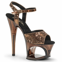 Pleaser Moon-710GT Cut-Out Ankle Strap Sandal