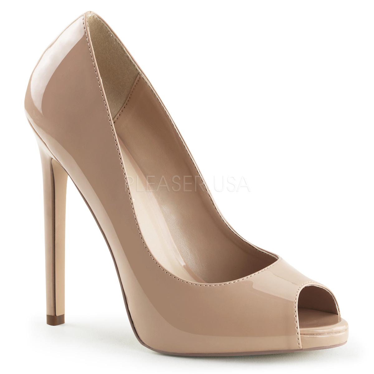 pleaser sexy 42 stiletto high heel peep toe pump