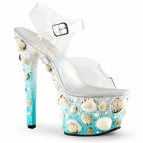 Pleaser Sky-308Mermd Mermaid Seashell Platform Shoe