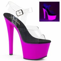 Pleaser Sky-308UV Ankle Strap Sandal