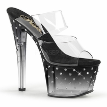 Pleaser Stardust-702T Tinted Two Band Sandal With R/S