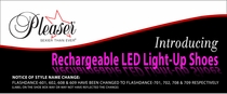Rechargeable LED Light-Up Exotic Dancer Shoes
