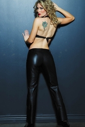 Allure 16-300 Low Rise Boot Cut Leather Pants