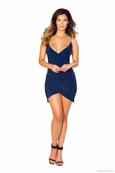 Spaghetti Strap Dress with Overlapping Scrunch Detail