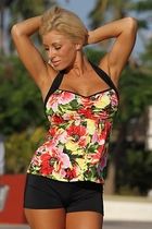 Ujena Canary Islands Floral Sexy Tankini Plus Bathing Suit