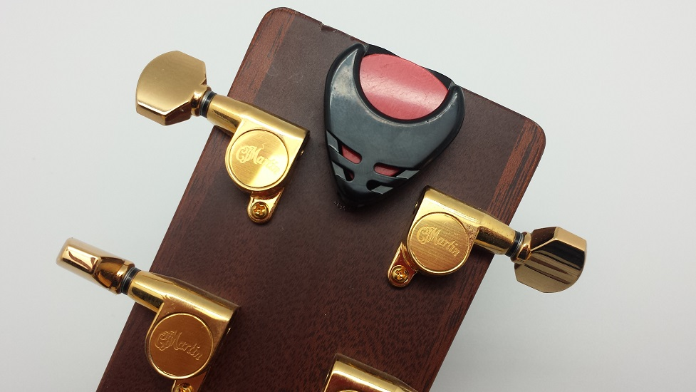 Guitar Pick Holder Case with sticker back