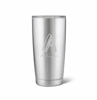 20 oz. Stainless Steel Brushed Initial Mug