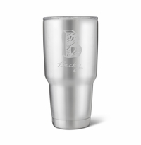 30 oz. Stainless Steel Brushed Initial Mug