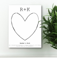 Our Story Guestbook & Keepsake Canvas