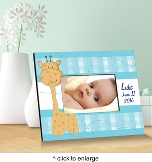 Baby Boy Blue Giraffe - click to enlarge