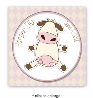 Baby Cow Nursery Canvas Sign - click to enlarge
