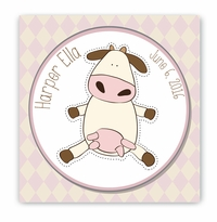 Baby Cow Nursery Canvas Sign